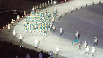 Kazakhstan at the 2014 Winter Olympics - Team Kazakhstan at the Opening Ceremony.