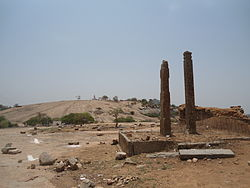 Keesaragutta temple view from ruins