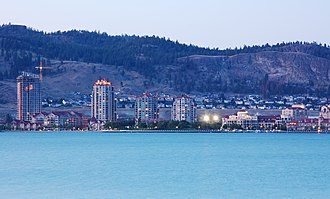 Kelowna - Downtown Kelowna and Cultural District from West Kelowna