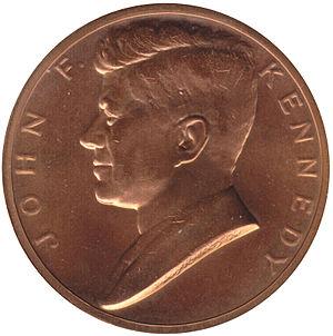 Kennedy half dollar - Image: Kennedy medal obverse