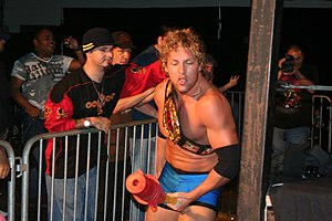Kenny Omega - Omega as the JAPW Heavyweight Champion in November 2008