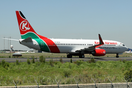 Kenya Airways Boeing 737-800 5Y-KYA JNB Jan 2007.png