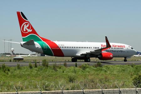 Kenya Airways Boeing 737-800 5Y-KYA JNB Jan 2007.png