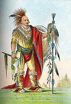 Native American chief in regalia