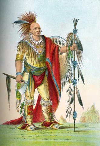 Black Hawk War - Keokuk by George Catlin, c. 1830s