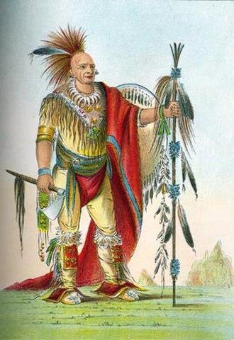 Black Hawk War - Keokuk by George Catlin, c. 1830s