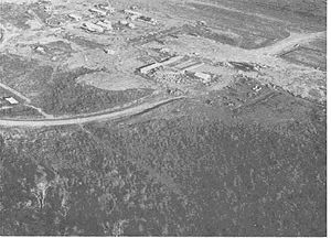 Battle of Kham Duc - Khâm Đức, as seen from the air, during the Vietnam War.