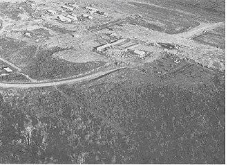 Battle of Kham Duc - Khâm Đức, as seen from the air, during the Vietnam War.