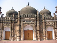 Khan Mohammad Mirdha's mosque (built 1706) at Atish Khana, in Old Dhaka, Bangladesh.