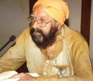 Khushwant Singh - Khushwant Singh at a reading in New Delhi