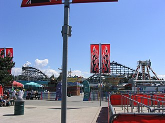 Playland (Vancouver) - The entrance to Kids Playce, an area of the amusement park that features family friendly rides.