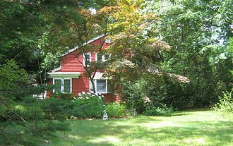 """Joyce Kilmer - The Kilmer family lived in this home on Airmount Road in Mahwah, New Jersey. It was here that his poem """"Trees"""" was written in February 1913."""