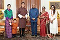 Kings and Royal Prince of Bhutan and First Family of India.jpg