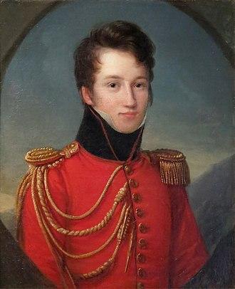 Alfred de Vigny - Portrait of Vigny, attributed to François Kinson.