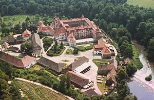 St. Marienthal Abbey - St. Marienthal Abbey from the northwest