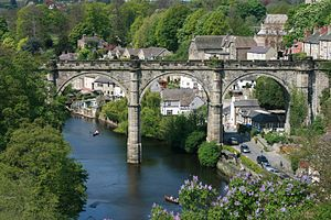 East and West Yorkshire Junction Railway - The 1851 Knaresborough River Nidd viaduct (2006)