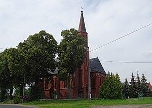 Kołdrąb, Kuyavian-Pomeranian Voivodeship - Church of John the Baptist. Built in the last years of the 19th century.