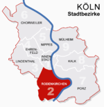 Location of Rodenkirchen shown in red