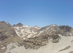 Mountain formation - Zard-Kuh, a fold mountain in the central Zagros range of Iran.