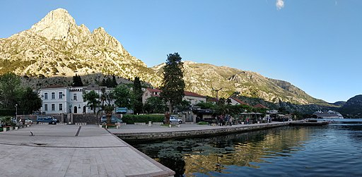 Kotor bay in the evening