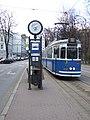 Krakov, Stare Miasto, tramvajová zastávka.JPG