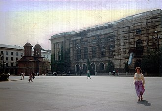 Revolution Square, Bucharest - Image: Kretzulescu Church in 1990