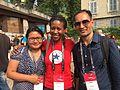 Krish and Laxmi in wikimania 2016 02.jpg