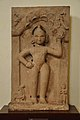 Krishna Lifting Govardhan Mound - Circa 19th Century CE - ACCN 88-147 - Government Museum - Mathura 2013-02-23 5351.JPG