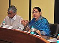 Krishna Tirath addressing an interactive session with the women members of parliament to discuss the proposed amendments to the Dowry prohibition Act and other Issues related to vulnerable Women, in New Delhi.jpg