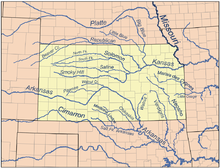Route of the oregon trail wikipedia map of principal rivers in kansas freerunsca Choice Image