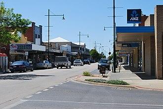 Kyabram - Allan Street, the main street of Kyabram