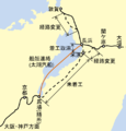 Kyoto-Baba and Tsuruga-Ogaki railway map ja.png