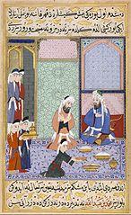 Scene of Feasting from Sultan Murad III's \