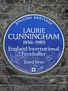LAURIE CUNNINGHAM 1956-1989 England International Footballer lived here.jpg