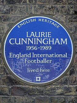 Laurie cunningham 1956 1989 england international footballer lived here