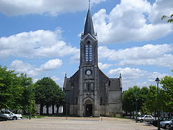 La Coquille (Dordogne fr),church and square.JPG