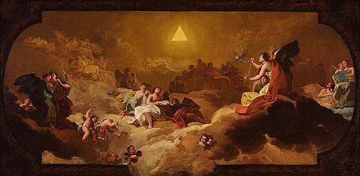 La Gloria (boceto), de Francisco de Goya. (Museo Ibercaja Camón Aznar)