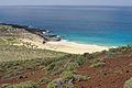 La Graciosa Playa de los Conchas from Montaña Bermeja1.jpg