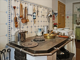Kitchen Space primarily used for preparation and storage of food