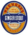 Label from a bottle of Waghorns Ginger Stout (19876823061).jpg