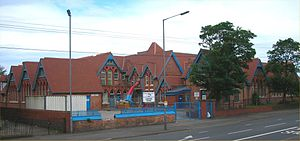 Ladypool Primary School - Post-tornado view of Ladypool School, Sparkbrook without tower