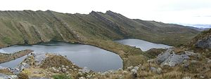 Siecha Lakes - Siecha Lakes, from left (east) to right (west) Siecha, Guasca, De los Patos