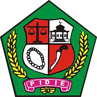 Pidie Regency - Image: Lambang Kabupaten Pidie