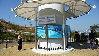 Wind turbines on public display