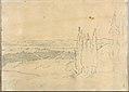 Landscape with Cedars and Buildings (Smaller Italian Sketchbook, leaf 24 recto) MET DP269432.jpg