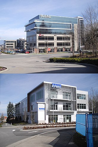 Langley, British Columbia (district municipality) - Modern Office Buildings in Carvolth area of Willoughby