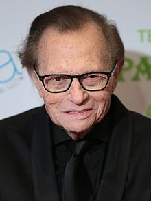 Larry King - the cool, friendly, fun,  tv-personality, TV Presenter, reality star,   with Jewish roots in 2017