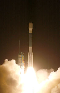 Launch of Delta II rocket carrying COSMO-2 (071208-F-9876C-002).jpg