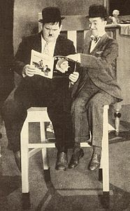 Laurel & Hardy reading The New Movie.jpg