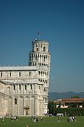 Leaning Tower of Pisa with Cathedral in foreground.jpg